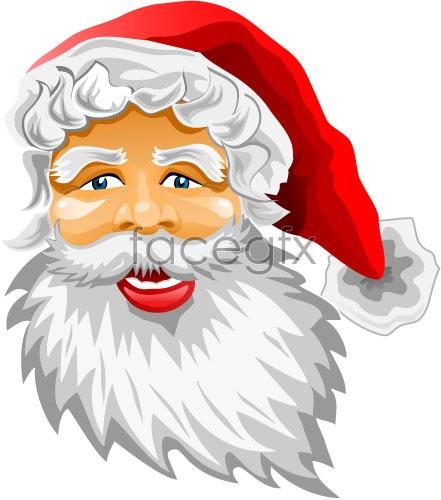 Santa Claus cartoon avatar Vector